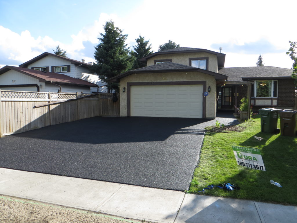 After Rubber Paving Of Driveway Edmonton Calgary Rubber Paving Company