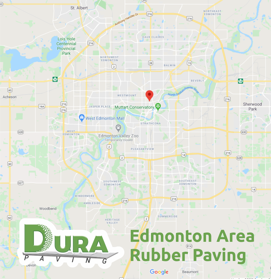 Edmonton Area Rubber Paving Company. Rubber Paving Driveway Sidewalk Decks